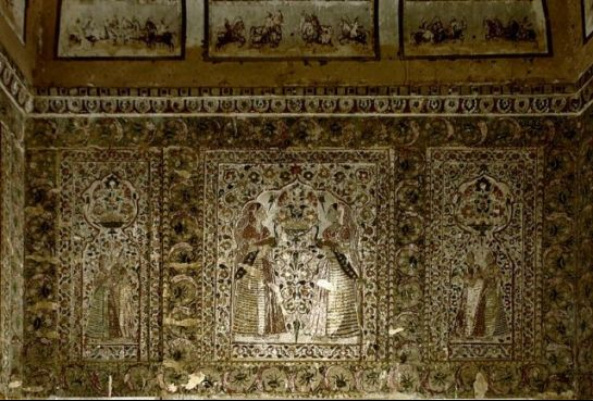Orchha photos, Raja Mahal - The Mural Paintings