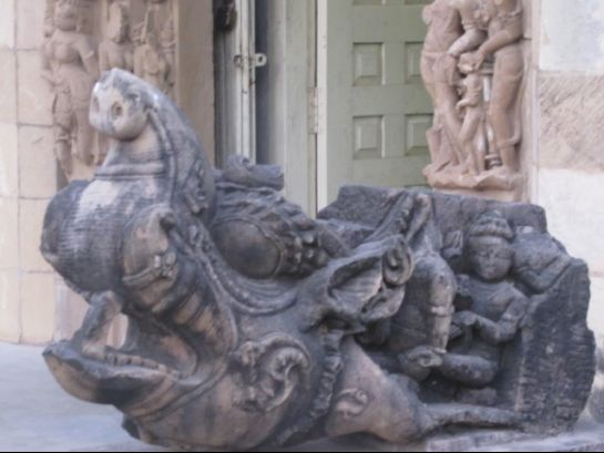 Khajuraho photos, Jain Museum - Sculpture of Makara