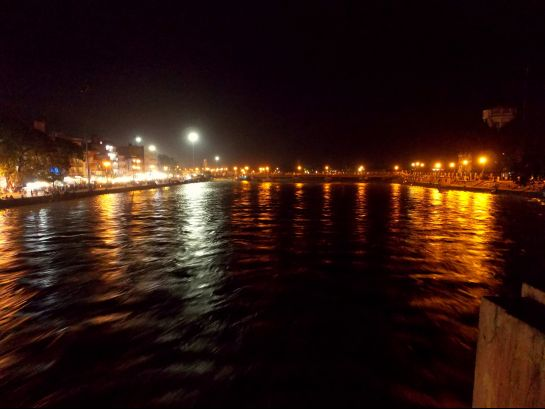 Haridwar photos, View of Ganges at night