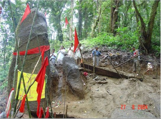 Ziro photos, Shiva Lingam at Kardo Forest - Shivalingam