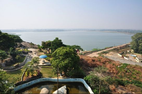 Ranchi photos, Kanke Dam - A side view of the lake