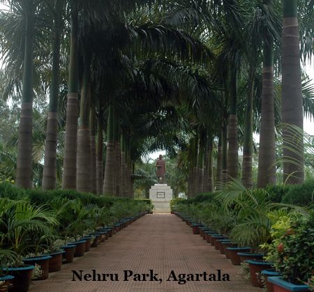 Agartala photos, Nehru Park - A distant view