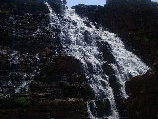 Jagdalpur photos, Tirathgarh Waterfalls - A view of the fall