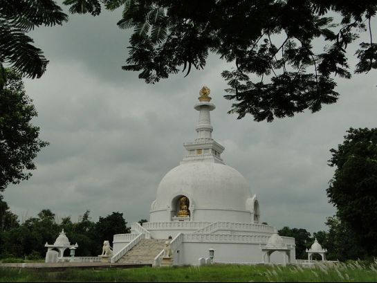 Vaishali photos, World Peace Pagoda - Clear View