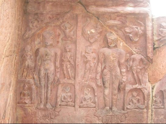 Rajgir photos, Sonbhandar Caves - Carvings