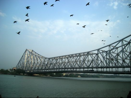 Kolkata photos, Howrah Bridge - A Distant View