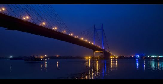Howrah photos, Vidyasagar Setu - Night View of Setu