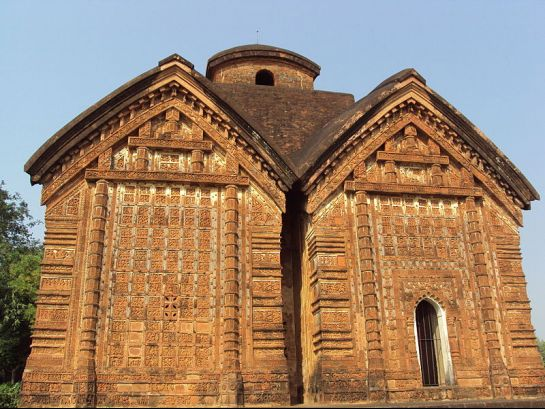 Bishnupur-West Bengal photos, Jorebangla Temple at Keshto Rai - Twin Structure