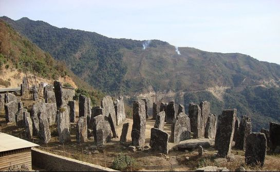 Senapati photos, Stone Erections