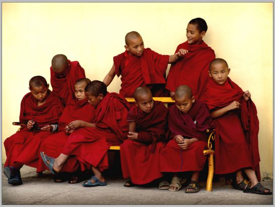 Rinchenpong photos, Rinchenpong Monastery - Young Monks