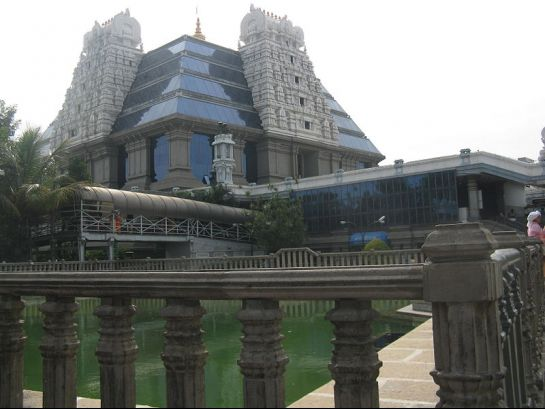 Bangalore photos, ISKCON Sri Radha Krishnachandra Temple - Side view