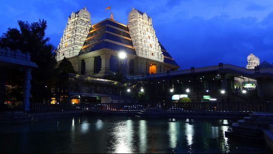 Bangalore photos, ISKCON Sri Radha Krishnachandra Temple - Night view