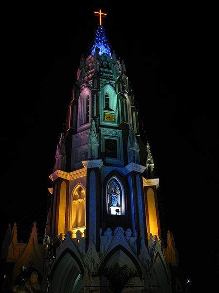 Bangalore photos, St. Mary's Basilica - Night view