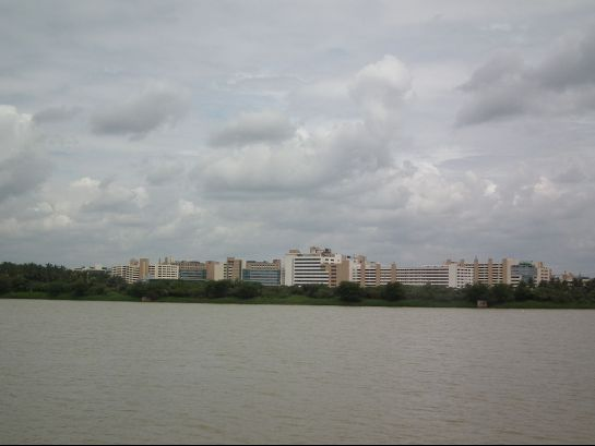 Bangalore photos, Nagavara Lake - View from Lumbini Gardens