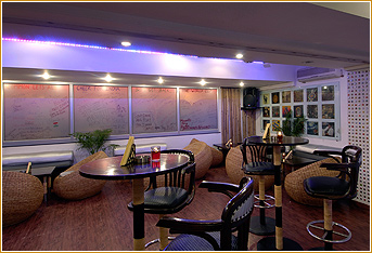 Serene ambiance of the restaurant