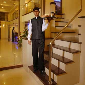 Attendant at the hotel