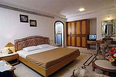 Master bedroom of the suite