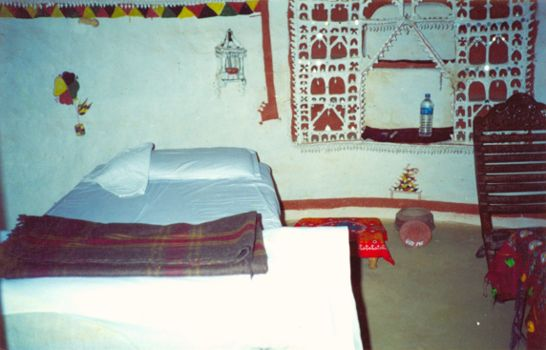 Interior of huts