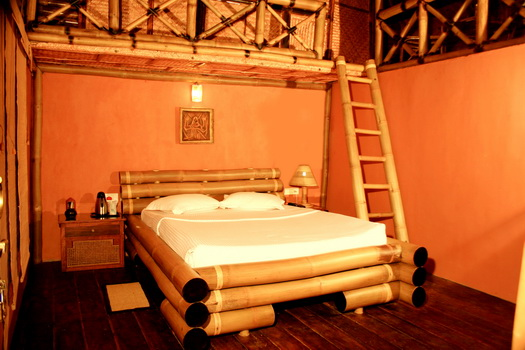 Bedroom in the Bamboo Tree House