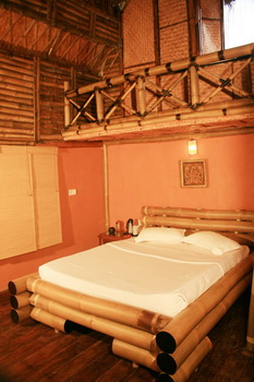 Bedroom in the Bamboo Tree House 1