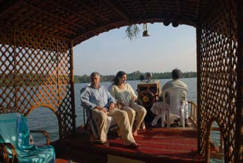 Inside the House Boat
