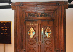 Wood panelled door