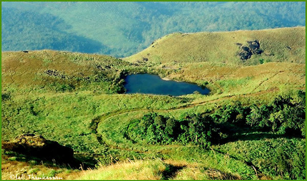 The Lake on the way to Chembra Peak