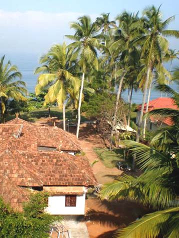 Panoramic view of the Varkala Beach