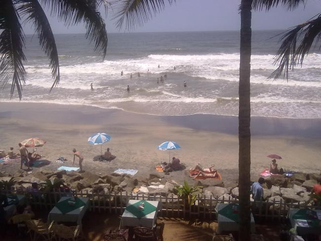 View from the Restaurant (Black Beach)