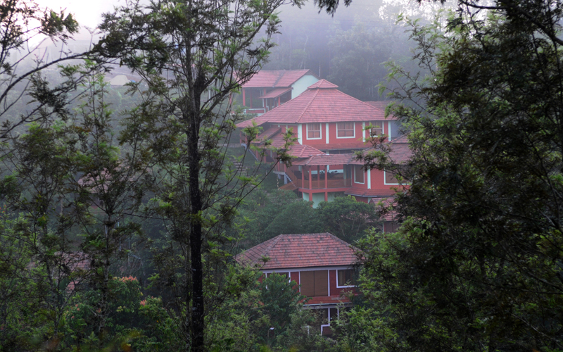Ariel View of cottages