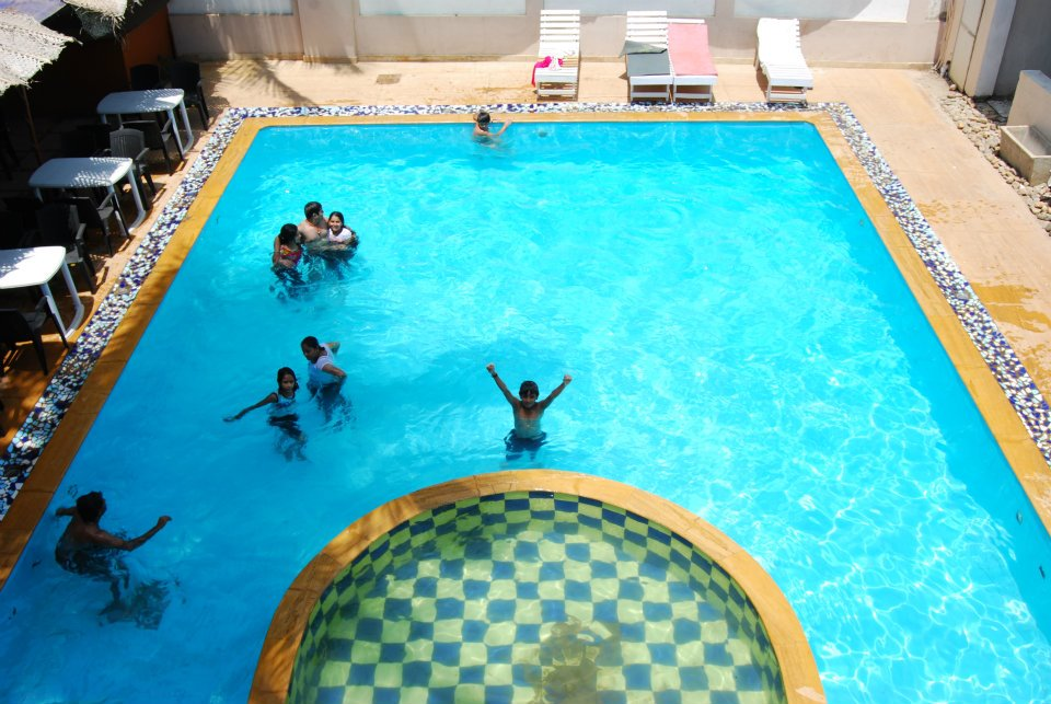 Guests at pool