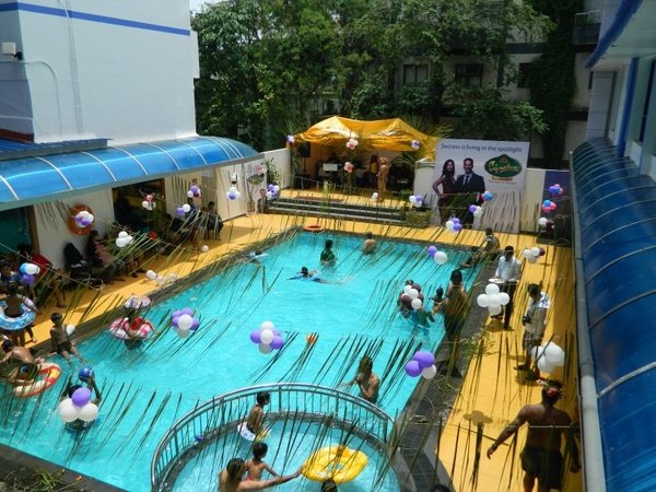 Bird's eye view of pool