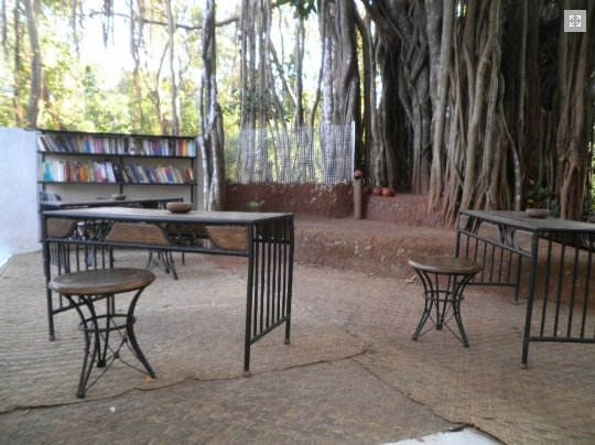 Library in open area