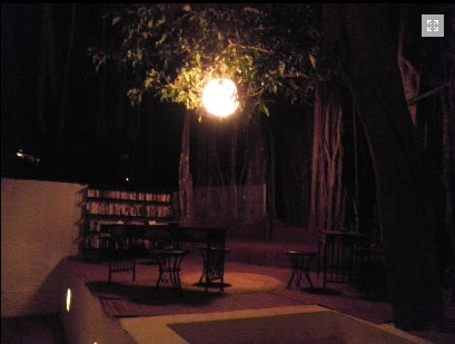 Library by evening