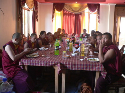 Monks dining