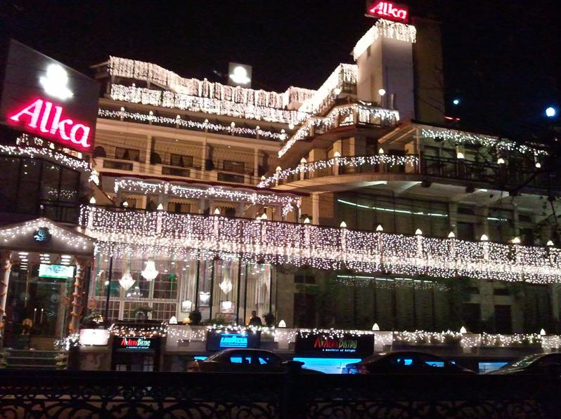 Hotel during Diwali