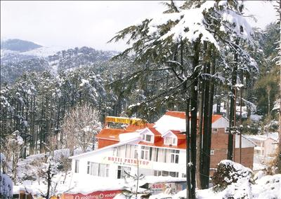 Hotel during winter