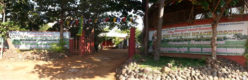 Resort entrance