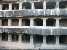 Ellora photos, Buddhist Group Of Caves - A VIew of The Entrance