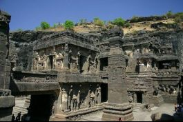 Ellora photos, Brahmanical Group of Caves - A View